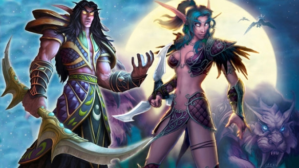 "Artwork depicts characters from the hit online game ""World of Warcraft."""